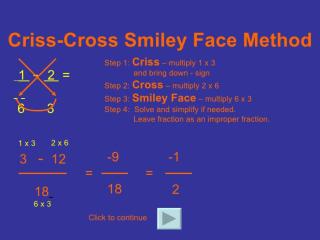 Cross multipy
